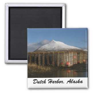 Ballyhoo Mountain Behind Crab Pots 2 Inch Square Magnet