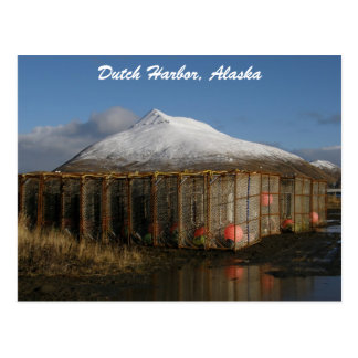 Ballyhoo Mountain Behind Crab Pots Postcard