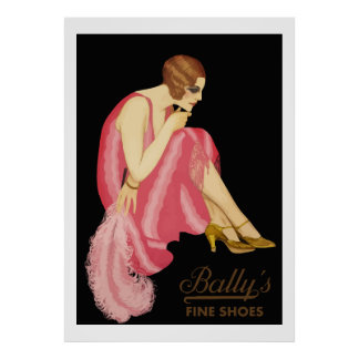 Bally's Fine Shoes Print