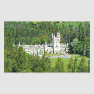 Balmoral Castle Rectangular Sticker