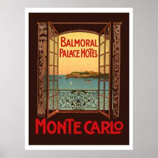 Balmoral Hotel de lujo Hotel (Montecarlo) Póster