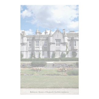 Balmoral, Queen of England's Scottish residence Custom Stationery