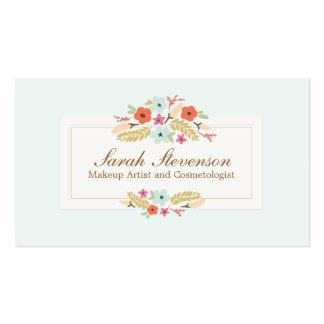 Balneario azul claro de las flores caprichosas de tarjetas de visita