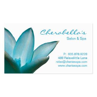 Balneario - azul de la tarjeta de visita de la ter