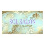 Balneario azul, salón o boutique de 311 solenoides plantillas de tarjetas personales