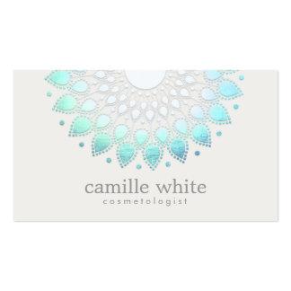 Balneario blanco elegante y belleza de Lotus Tarjetas De Visita