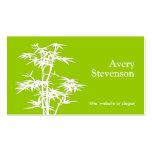 Balneario de bambú verde elegante simple de la sal tarjetas personales