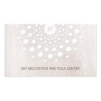 Balneario de la salud del profesor de la yoga y de tarjetas de visita