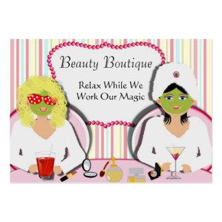 Balneario de la salud del salón de belleza de la tarjetas de visita grandes