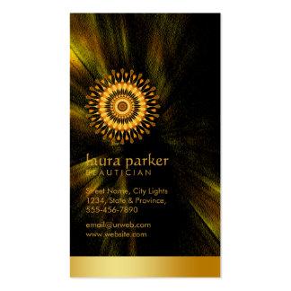 Balneario de oro de la salud de la meditación de tarjetas de visita