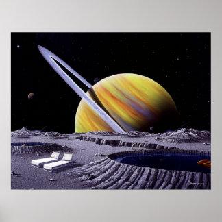 Balneario de Saturn Póster