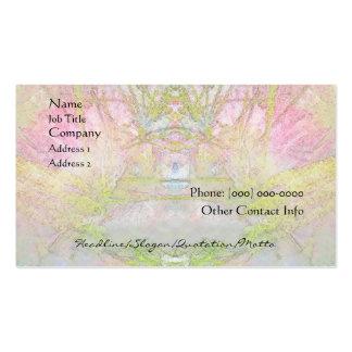 Balneario del árbol de seda y tarjeta del perfil d plantillas de tarjetas de visita