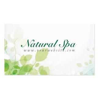 Balneario natural en colores pastel del diseño ver tarjetas de visita