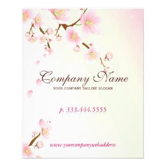 "Balneario natural suavemente del rosa y blanco del folleto 4.5"" x 5.6"""
