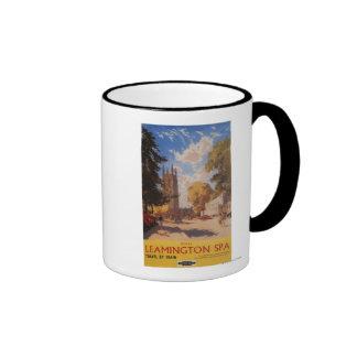 Balneario real, poster británico de los ferrocarri tazas de café