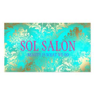 Balneario, salón o boutique de la turquesa de 311  tarjetas de visita