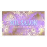 Balneario, salón o boutique púrpura de la lila de  tarjetas de visita