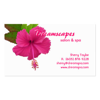 Balneario tarjeta de visita de la flor de la terap