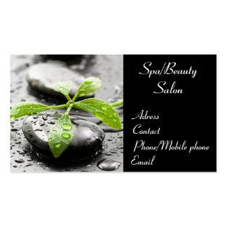 Balneario/tarjeta de visita del salón de belleza tarjetas de visita