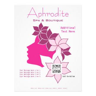 Balneario y boutique del Aphrodite de la plantilla Membretes Personalizados