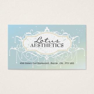 Balneario y tarjeta de visita de la estética