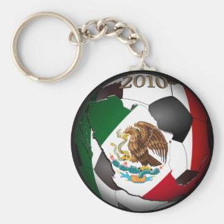 Balón 2010 de fútbol de México Llavero Redondo Tipo Pin