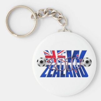 Balón 2010 de fútbol de Nueva Zelanda Llavero Redondo Tipo Pin