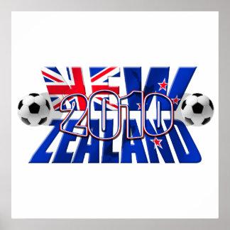 Balón 2010 de fútbol de Nueva Zelanda Póster