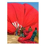 Balón de aire candente - acopio y embalaje (4) tarjetas postales