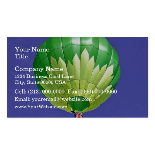 Balón de aire dual caliente del tono en vuelo cont tarjetas de visita