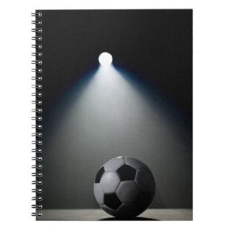 Balón de fútbol 2 libros de apuntes con espiral