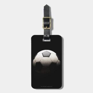 Balón de fútbol 3 etiqueta de equipaje