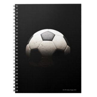 Balón de fútbol 3 libro de apuntes con espiral