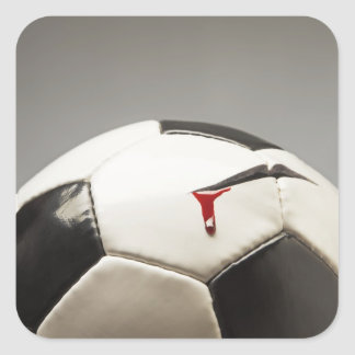 Balón de fútbol 3 calcomanía cuadrada personalizada