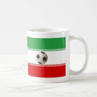 balón de fútbol 3D con la bandera iraní Taza De Café