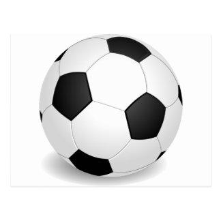 balón de fútbol 3D Postal