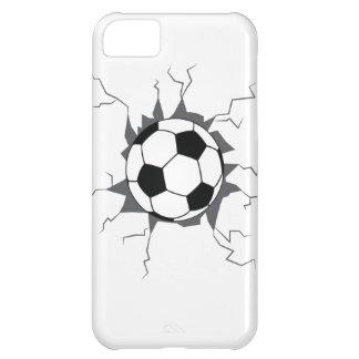 Balón de fútbol a través de la pared funda para iPhone 5C