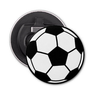 Balón de fútbol abrebotellas redondo