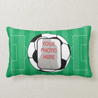 Balón de fútbol adaptable de la foto cojin