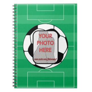 Balón de fútbol adaptable de la foto libretas espirales
