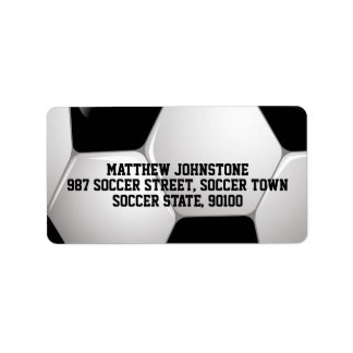 Balón de fútbol adaptable del fútbol etiqueta de dirección