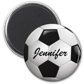 Balón de fútbol adaptable del fútbol imán redondo 5 cm