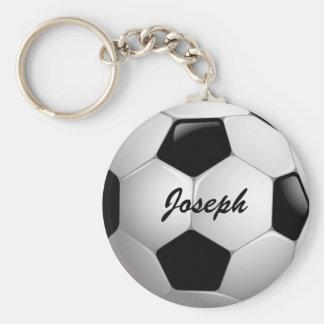 Balón de fútbol adaptable del fútbol llavero redondo tipo pin