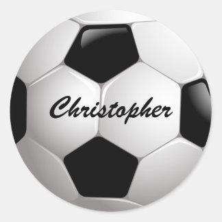 Balón de fútbol adaptable del fútbol pegatina redonda