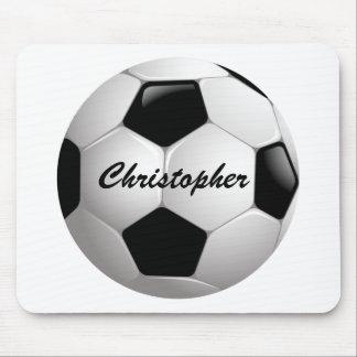 Balón de fútbol adaptable del fútbol alfombrilla de ratón