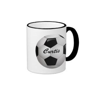 Balón de fútbol adaptable del fútbol taza a dos colores