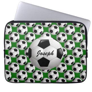 Balón de fútbol adaptable en verde mangas portátiles