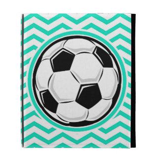 Balón de fútbol; Aguamarina Chevron verde