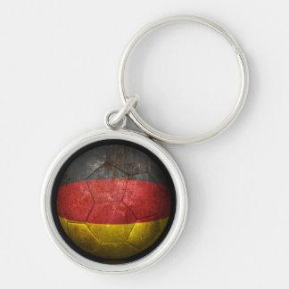 Balón de fútbol alemán gastado de fútbol de bander llavero