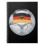 Balón de fútbol alemán libreta espiral
